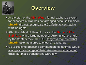 American Civil War - Prisons - Prisoner Exchanges