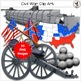 Civil War Clip Art Realistic hand-drawn clip art images