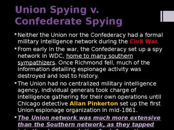 American Civil War - Spies & Espionage