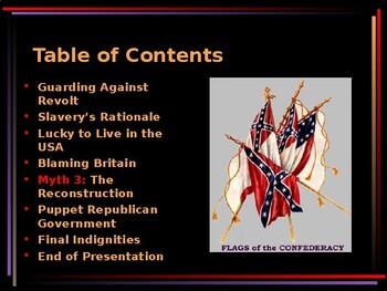 American Civil War - The Confederate Lost Cause Myth