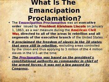American Civil War - The Emancipation Proclamation