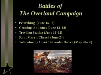 American Civil War - The Overland Campaign