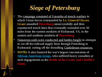 American Civil War - The Siege of Petersburg