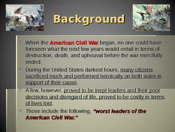 American Civil War - The Worst Generals of the Civil War