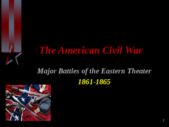 American Civil War - Major Battles - Eastern Theater - 1861-1865