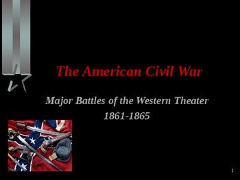 American Civil War - Major Battles - Western Theater - 1861-1865