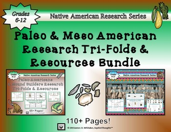 American Civilizations Meso and Paleo American Research Tri-Folds
