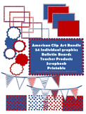 Clip Art Bundle for Bulletin Boards, Printables, America Theme