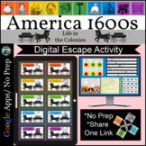 American Colonies 1600s Escape Room Digital Breakout Dista