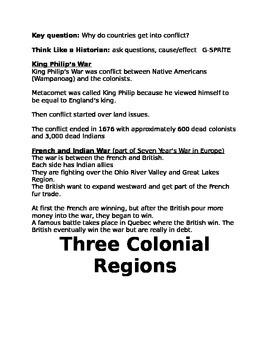 American Colonies Activities