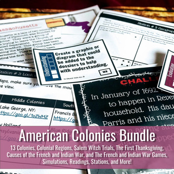 American Colonies Bundle: Games, Stations, Simulations and More