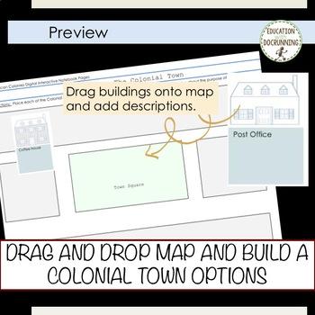 American Colonies Digital Interactive Notebook Graphic organizers