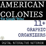 American Colonies Digital Interactive Notebook Graphic org