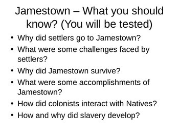 American Colonies: Jamestown Powerpoint
