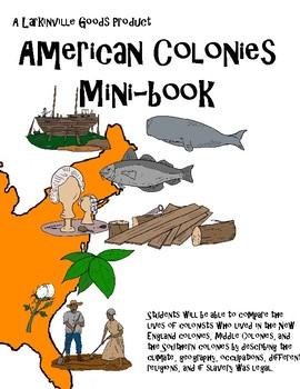 American Colonies Mini-book