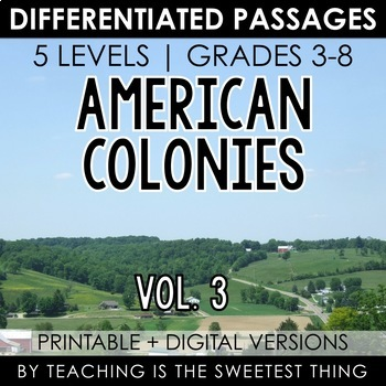 American Colonies: Passages (Vol. 3)