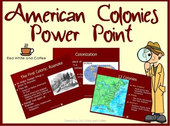 American Colonies Power Point and Exam