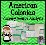 American Colonies Primary Source Analysis & Inquiry Task C