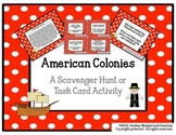 American Colonies Task Cards or Scavenger Hunt
