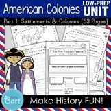 13 American Colonies Unit {Part 1} - 54 Pages
