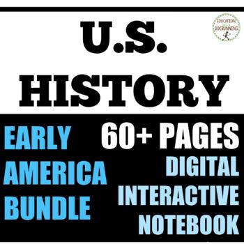 American Colonies to Civil War Digital Notebook Bundle