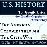 American Colonies to Civil War Digital Notebook Bundle