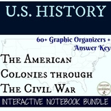 American Colonies to Civil War Interactive Notebook Graphi