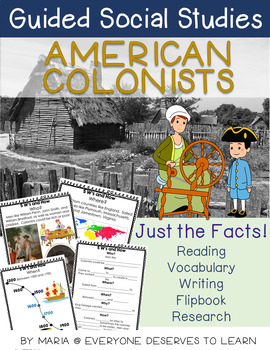 American Colonists 13 Colonies 5W's and How