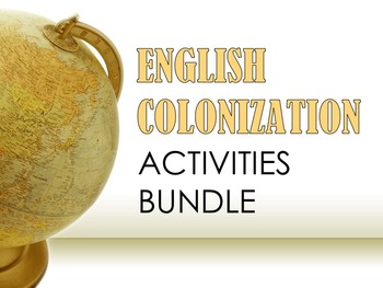 English Colonization Activities Bundle