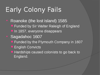 American Colonization PowerPoint