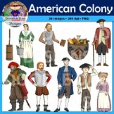 American Colony Clip Art (Jamestown, John Smith, England, Settlers, Pilgrims)