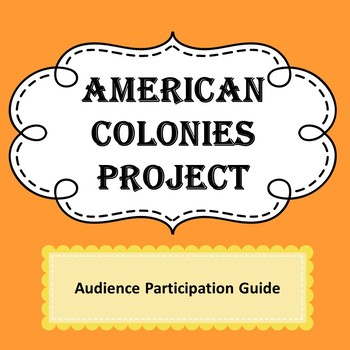 American Colony Project Audience Participation Guide