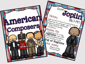American Composers Poster Set