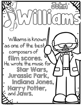 American Composers Coloring & Fact Sheets Set 2