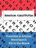 American Consitution Word Search and more!