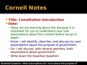 American Constitution - Introduction and Assumptions