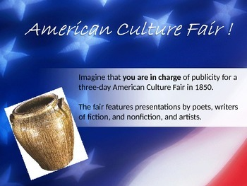 American Culture Fair - using artists authors primary sources project