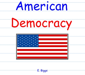 American Democracy - Smartboard Lesson