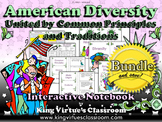 American Diversity Interactive Notebook BUNDLE - Common Principles Traditions