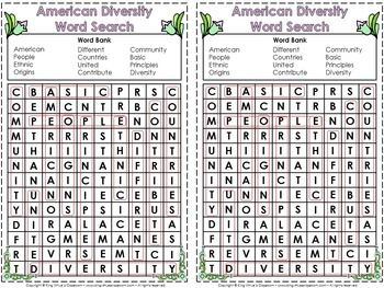 American Diversity Interactive Notebook BUNDLE - Common Principles Traditions