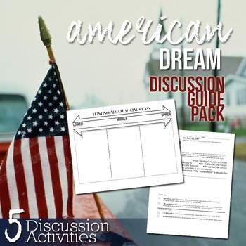 American Dream Discussion Pack: Of Mice and Men, Great Gatsby, and more!