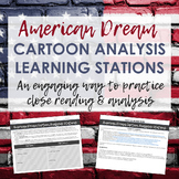 American Dream Political Cartoon Analysis Learning Stations