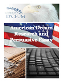 American Dream Research and Persuasive Essay