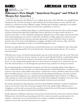 "American Dream- Rihanna's New Single ""American Oxygen"""