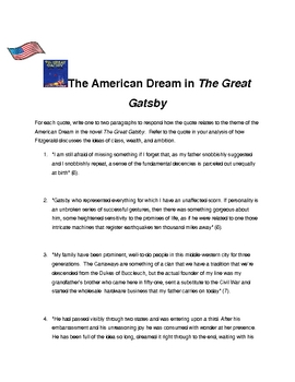 American Dream/Gatsby Quotes