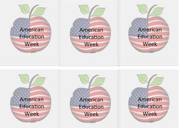 American Eduction Week Apples