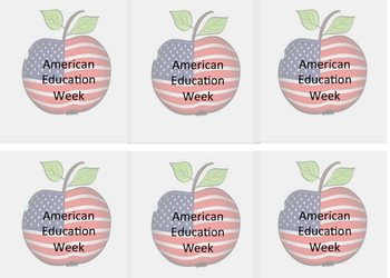 American Eduction Week Apples