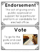 American Election Vocabulary Posters