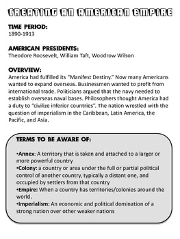 American Empire: Fact or Fib Imperialism Game