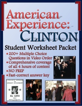 American Experience Clinton: Worksheets for Entire Series